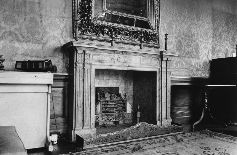 Interior. Drawing room, detail of mantlepiece.