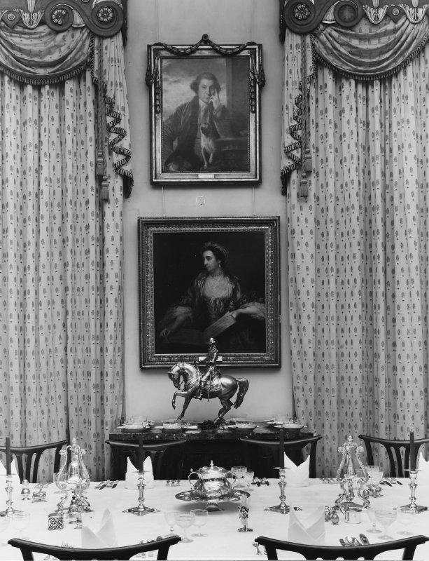 Dalmeny House, interior. View of dining room.
