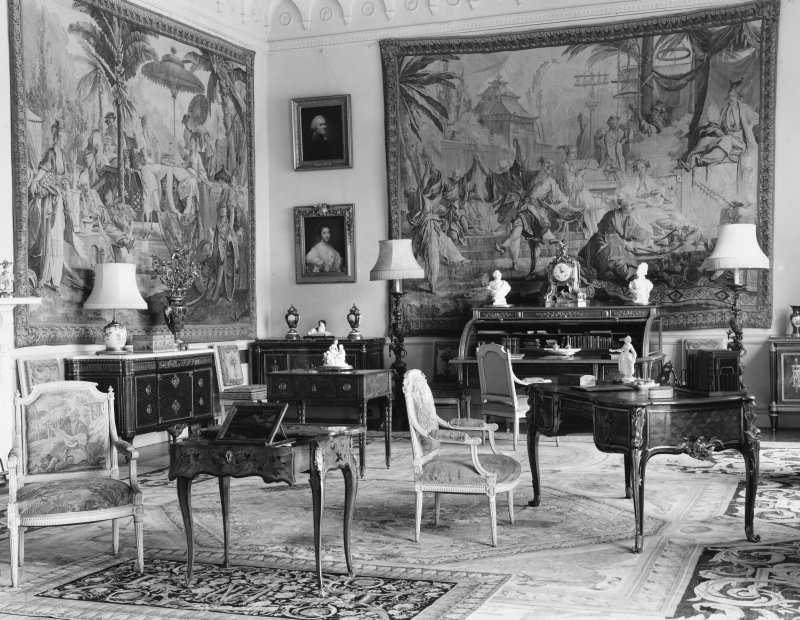 Dalmeny House, interior. View of drawing room.