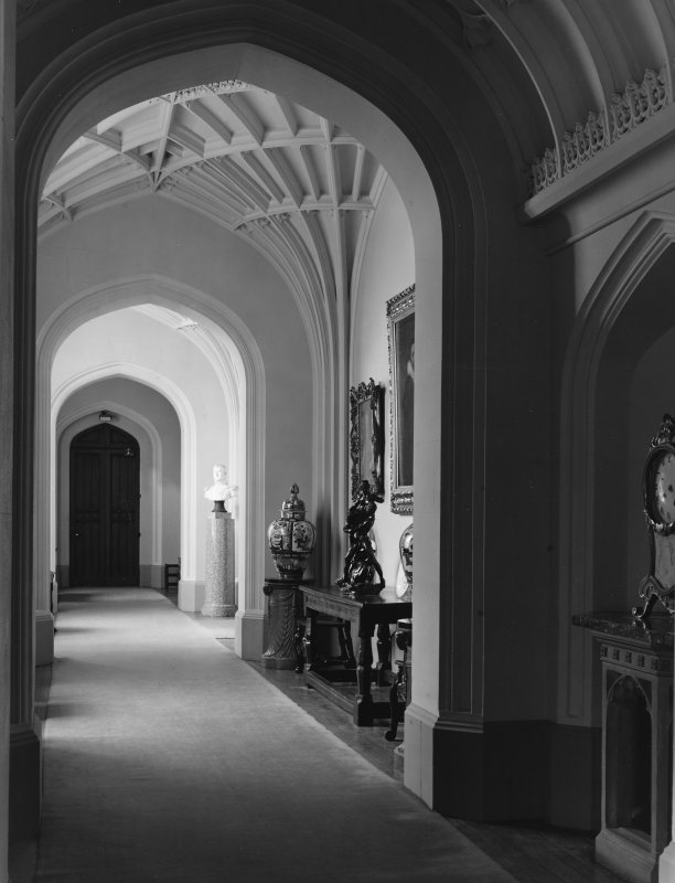 Dalmeny House, interior. View of hallway.