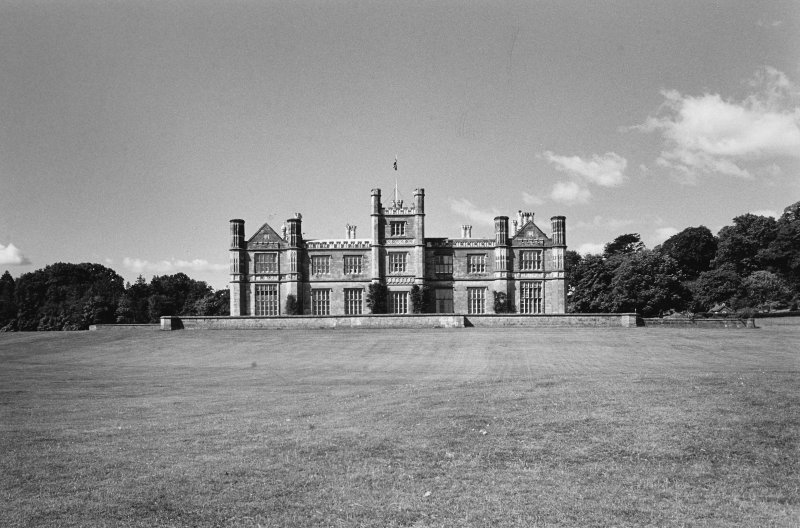 Dalmeny House. View from North East.