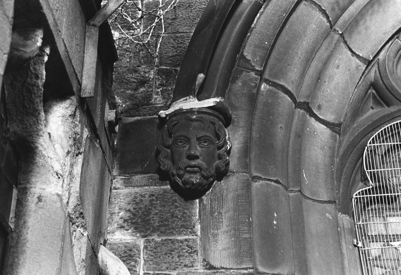 Detail of carved head.