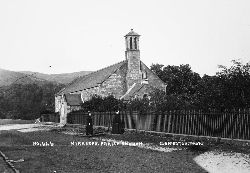 Copy of historic photograph showing view from SW.