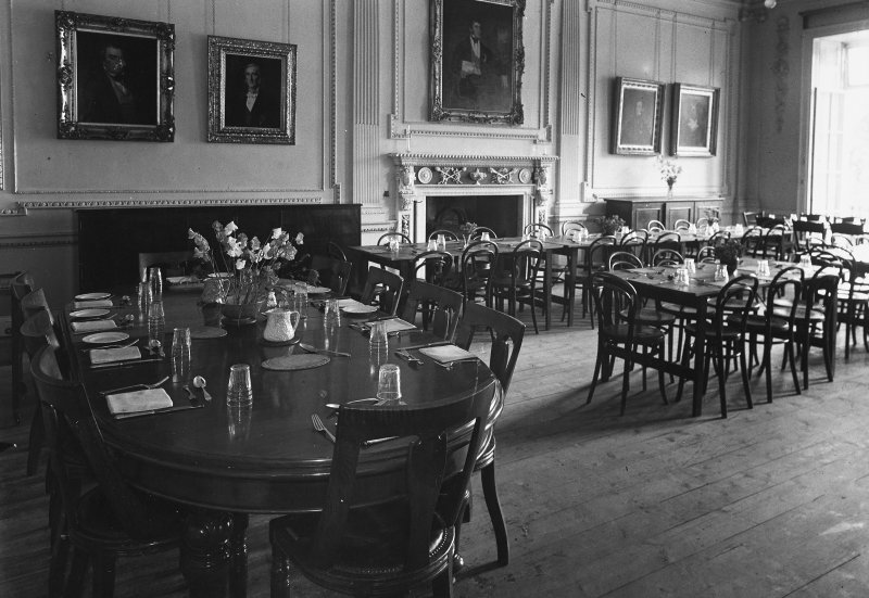 Minto House, interior View of dining hall