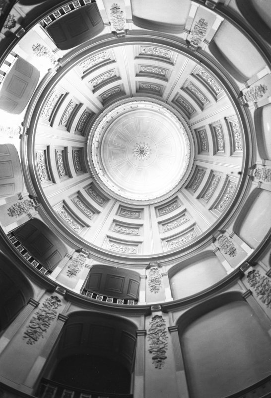 Minto House, interior View of dome above inner hall and main staircase