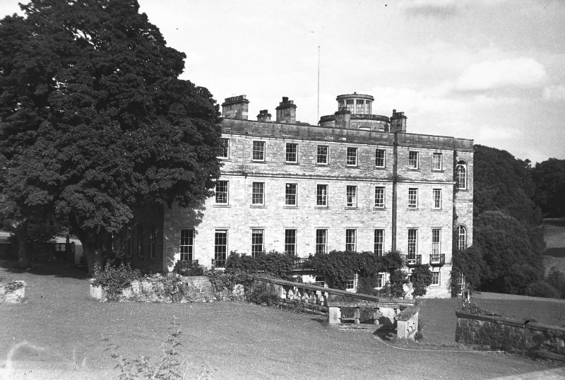 Minto House View of North range from garden terrace, to West