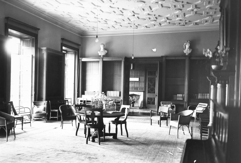 Minto House, interior View of library