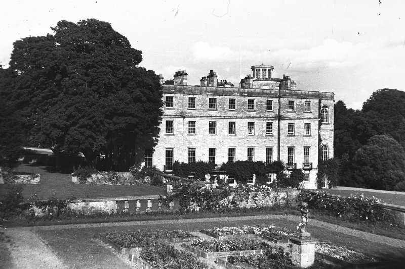 Minto House View of garden terrace and North range from West