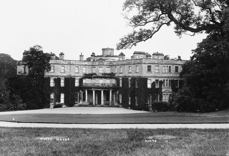 Minto House View of entrance front from North, titled 'Minto House' 'Minto 11'