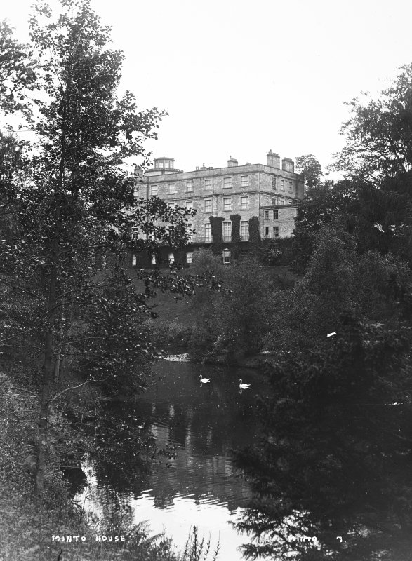 Minto House View from South East of house and loch, titled 'Minto House' 'Minto 7'