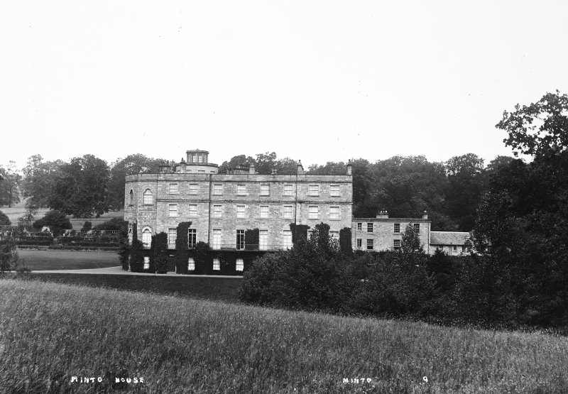 Minto House View of South front of East range, titled 'Minto House' 'Minto 9'