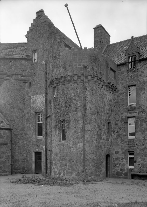 General view of south east tower, Fiddes Castle.