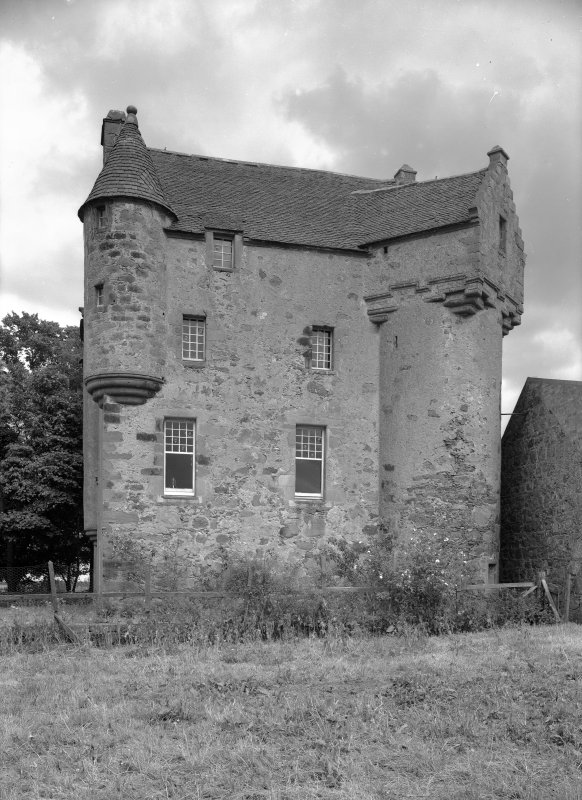 General view of west elevation of Fiddes Castle.