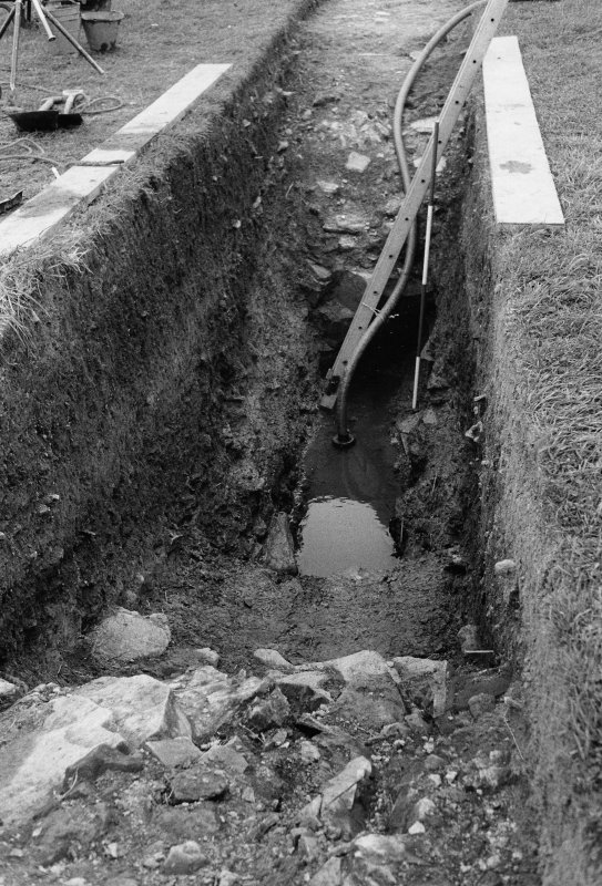 Excavation photograph - Cutting across ditch