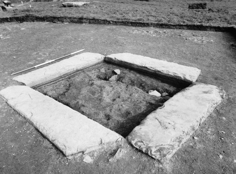 Excavation photograph - central setting from S.W.