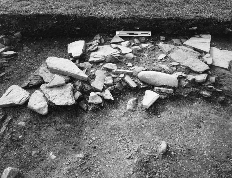 Excavation photograph - West stone hole from N.E. (pre-excavation)