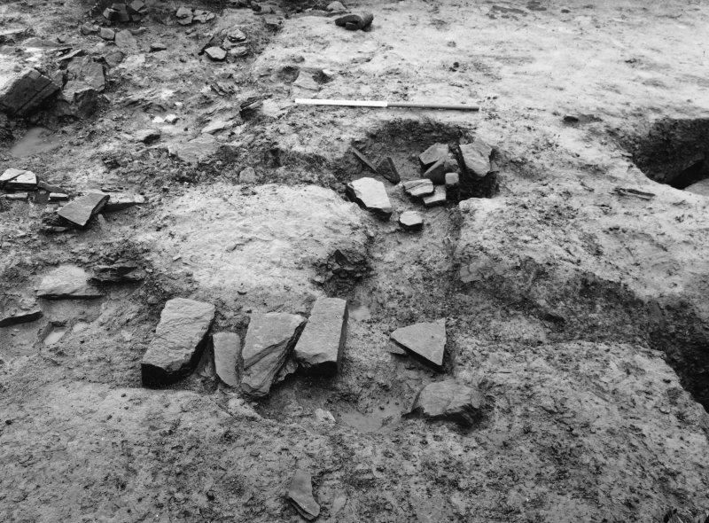 Excavation photograph - Timber setting from W.
