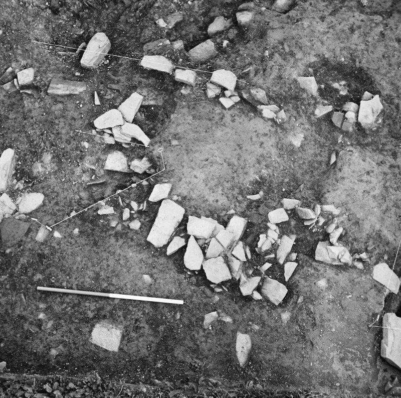 Excavation photograph - Timber setting