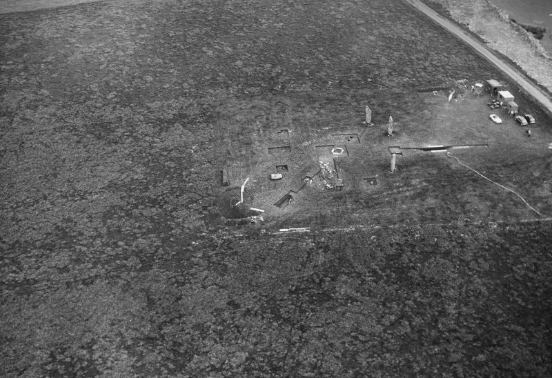 Aerial view of site under excavation