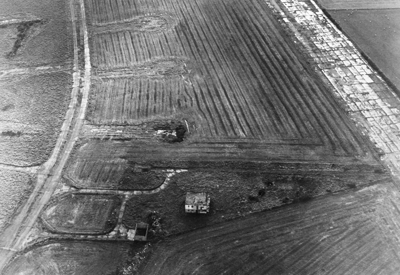 Oblique aerial view of Banff Airfield, taken from the north east, centred on the airfield.