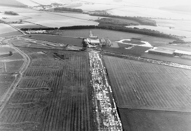 Oblique aerial view of Banff Airfield, taken from the south, centred on the airfield.
