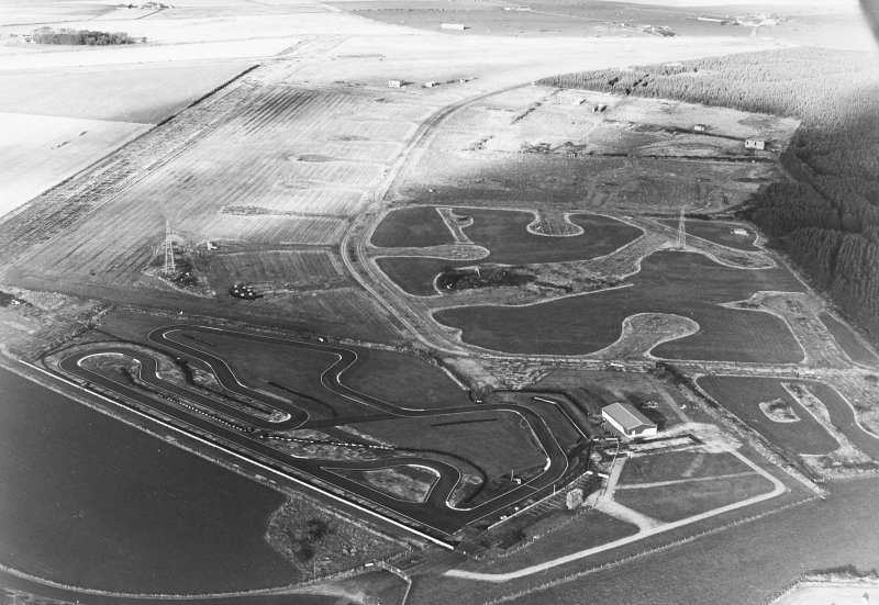 Oblique aerial view of Banff Airfield, taken from the north, centred on the airfield.