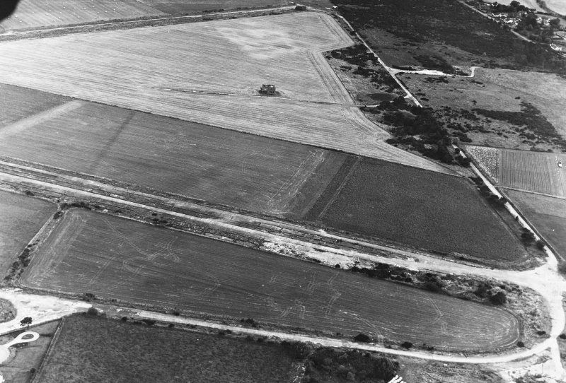 Oblique aerial view from E.