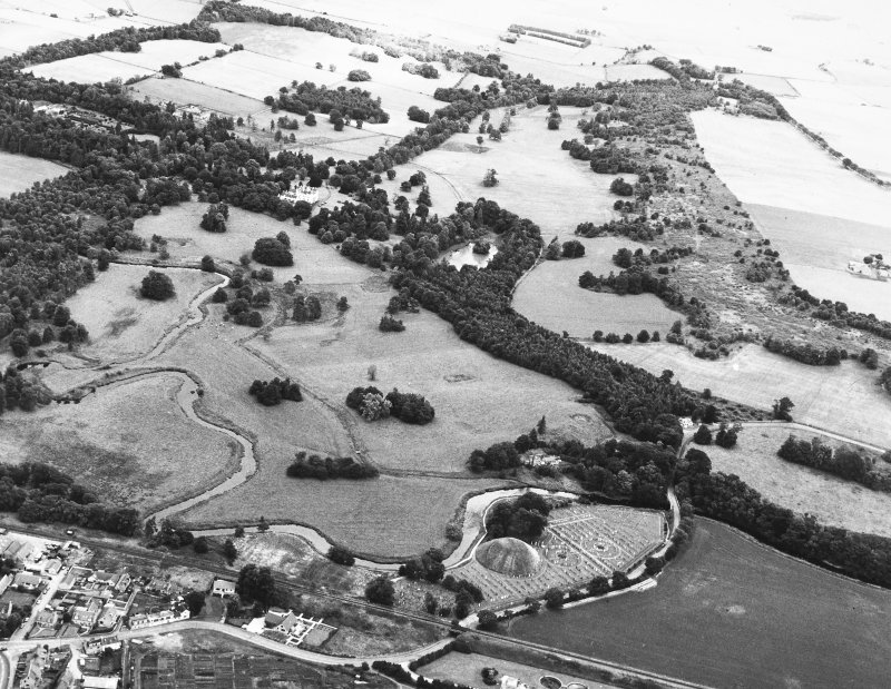 Bass of Inverurie: aerial photograph