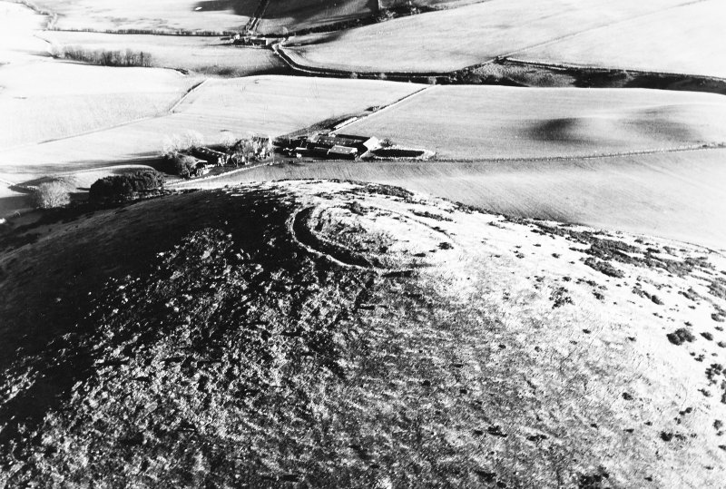 Oblique aerial view of Wheedlemont, taken from the W, centred on fort.