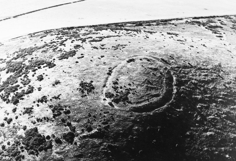 Oblique aerial view of Wheedlemont, taken from the NNE, centred on fort.