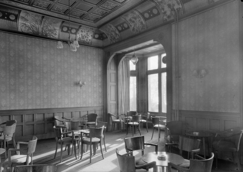 Interior view of Cairndhu Hotel, Ardrossan, showing drawing room.