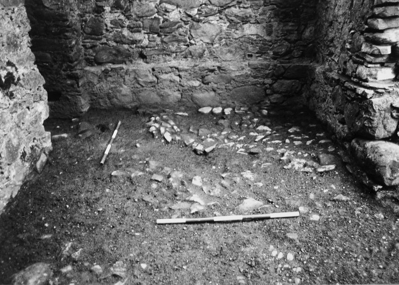 Excavation of the main forestair and the entrance, the medieval remains in the SW casemate and the parade ground.