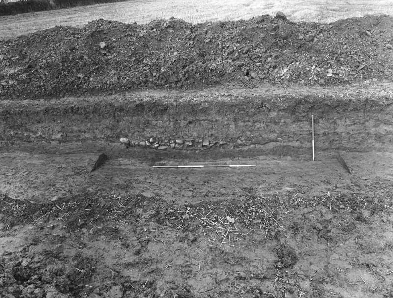 Trench 1, N side, Rampart and intervallum.