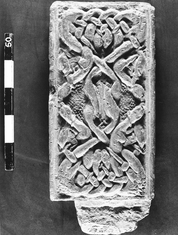 St Andrews Sarcophagus. Right-hand corner-post from front. Panel 1B.