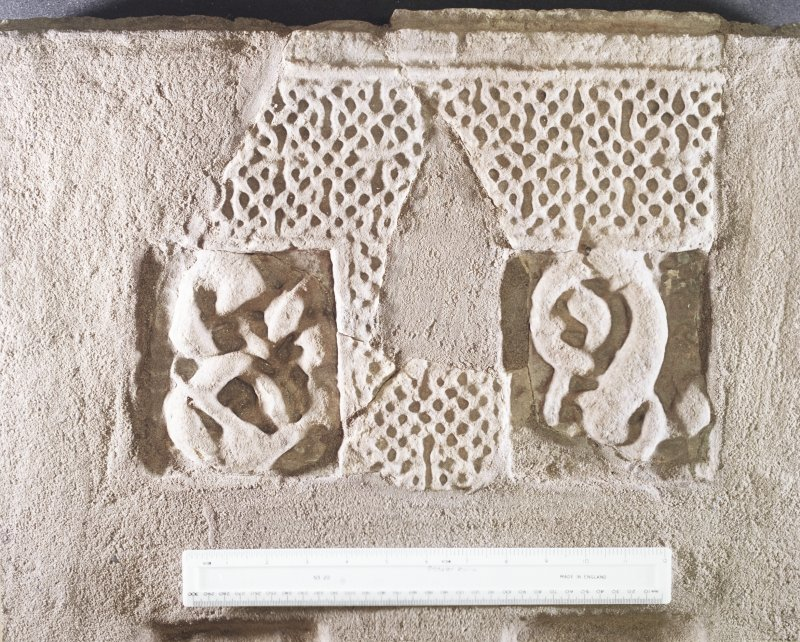 St Andrews Sarcophagus. Detail of right side panel fragment. Panel 1E.