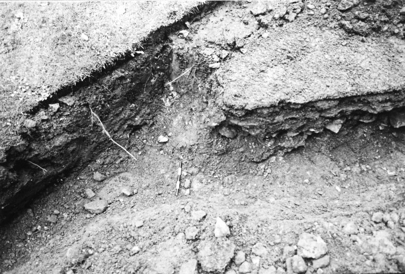 Excavation photograph : north section and base of southern track (east - west)