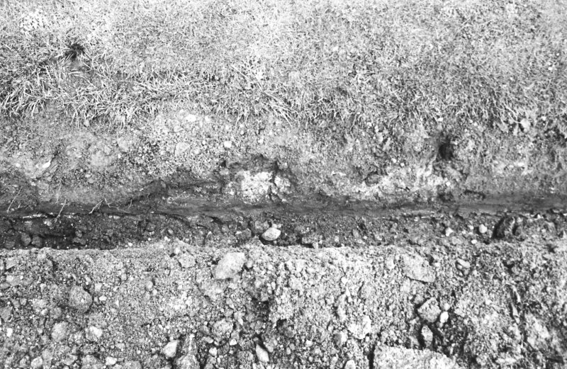 Excavation photograph : east section and base of western track (south-north)
