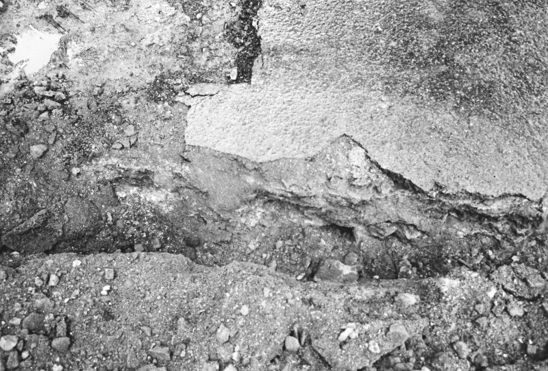 Excavation photograph : east section and base of western track (north)