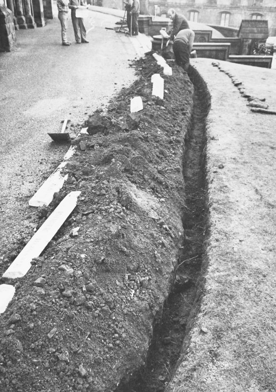 Excavation photograph - General view along W extension of Trench I - from W