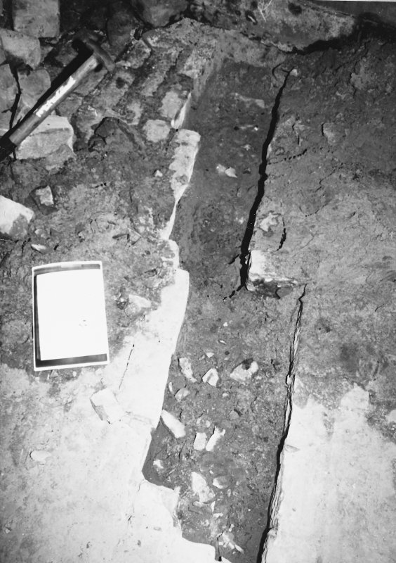 Excavation photograph - Close up of excavation within The Pends - from S