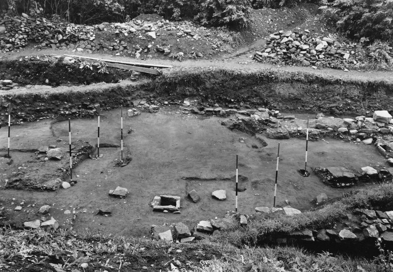 Excavation photograph: View of Block B, central area, looking S