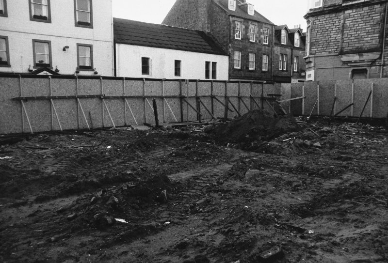 Excavation photograph : location shot of trench A on High Street frontage.