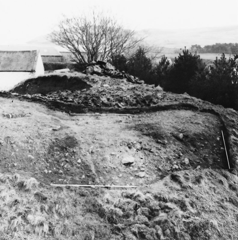 Roberton, motte: photograph in early stage of excavation C Tabraham, 1979