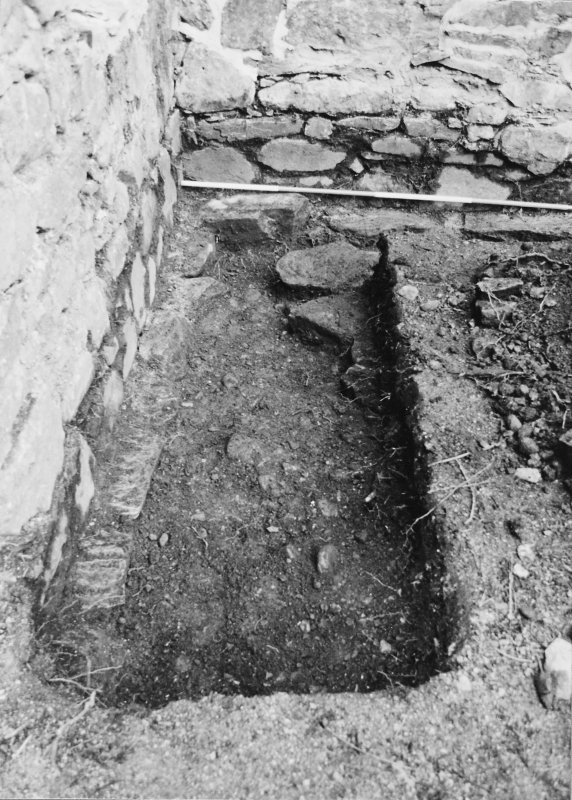 Rossdhu Castle Excavations, June and August/September 1996 Frame 36 - North arm of Trench 21 - from east