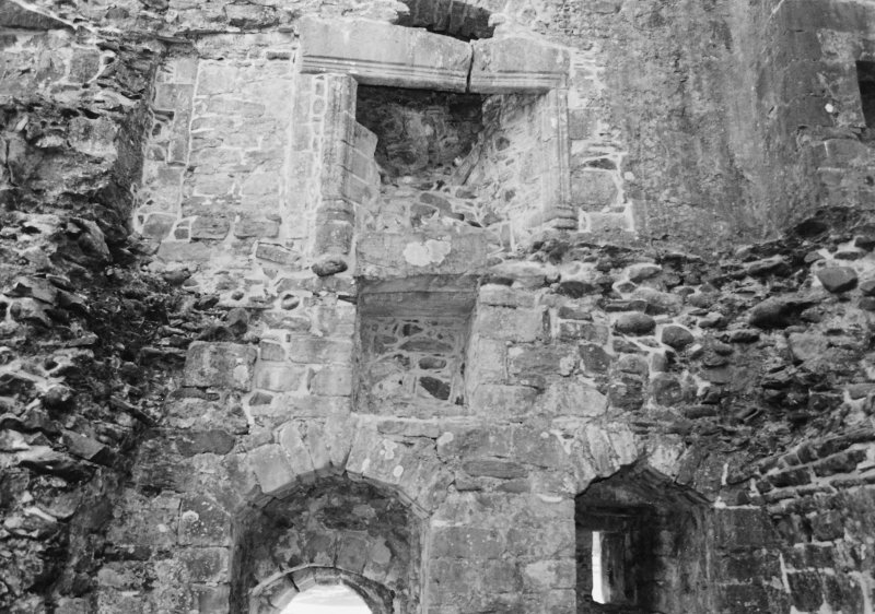 Rossdhu Castle Excavations, June and August/September 1996 Frame 19 - Fireplace in hall of tower - from north