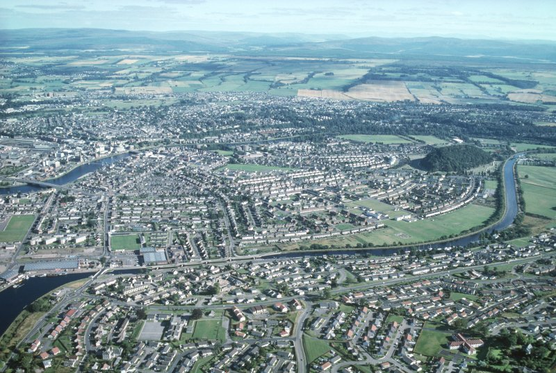 Aerial view of Scorguie and Dalneigh, Inverness, looking SE.