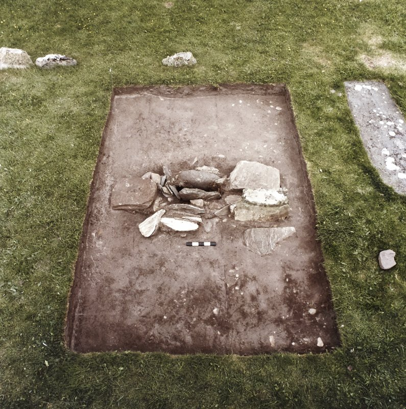 Excavation of cross-base.
