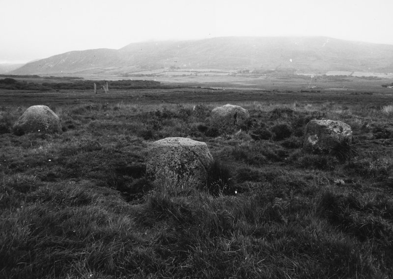 View of stone circle from south west.