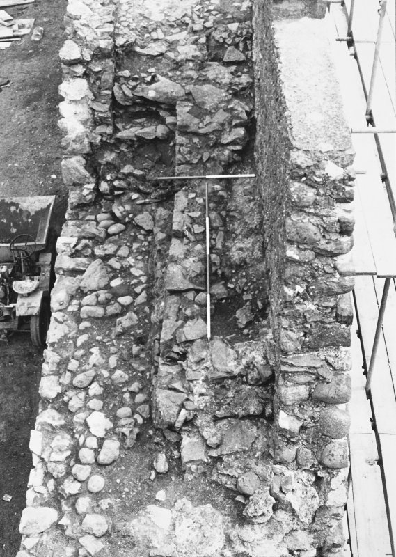 Inverlochy Castle Frame 15 - Steps towards the north end of the west curtain wall; from north