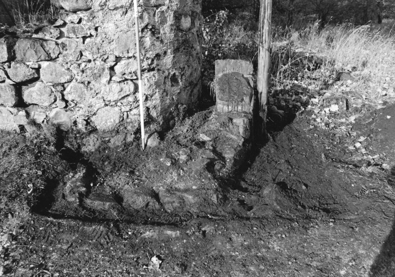 Inverlochy Castle Frame 12 - Trench C deturfed; from southeast